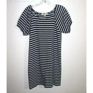 sz MP - LOFT stripes stretchy dress medium petite